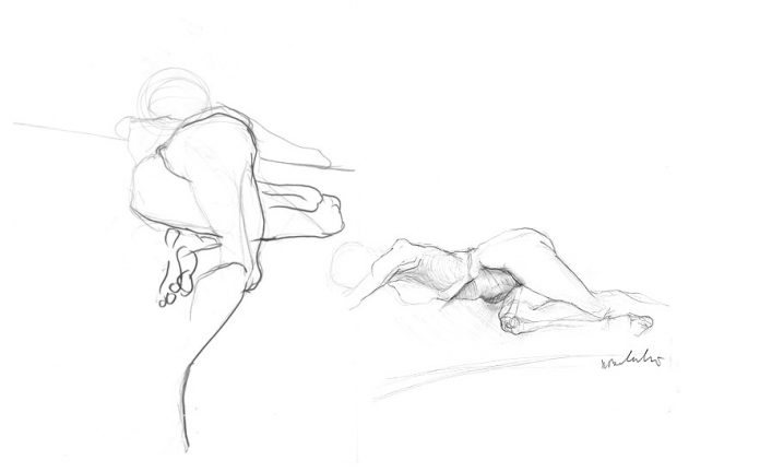 szkic w rysunku